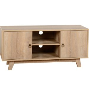 BBS1073  Finley TV Unit in Medium Oak Effect Veneer