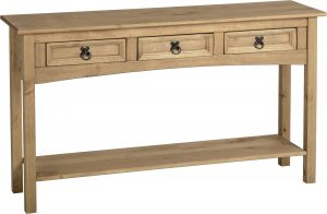 BBS132  Corona 3 Drawer Console Table with Shelf