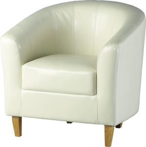 BBS145  Tempo Tub Chair in cream Faux Leather