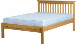 BwBS280  Monaco 4Ft6inch Bed Low Foot End  in Antique Pine
