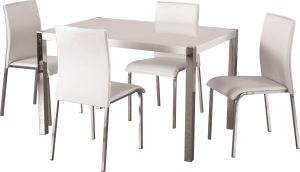 BBS320  Charisma 4Ft Dining Set in White