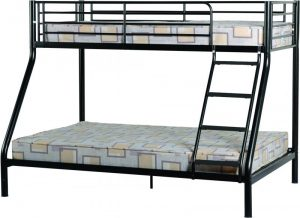 BuBS337  Tandi Triple Sleeper Bunk Bed Frame in Black