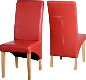 BBS54  G1 Chair in Red PU PAIR