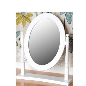 BBS695  CONTESSA DRESSING TABLE MIRROR in White