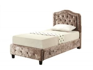 BuBS1229  Kimberley single bed in champagne.