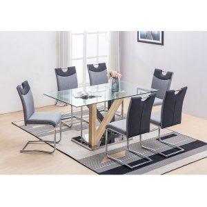 BBS1271  Hanover Dining set with 6 chairs.