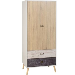 BBS1294  Nordic 2 door 2 drawer wardrobe