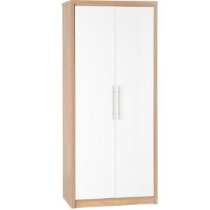 BBS296  Seville 2 Door Wardrobe  in White