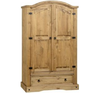 BBS343  Corona 2 Door 1 Drawer Wardrobe