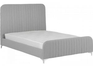 BwBS1170  Hampton double bed in light grey fabric.