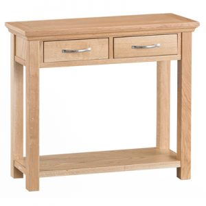 BBS1322  LW Console Table in Light Oak and Natural Finish