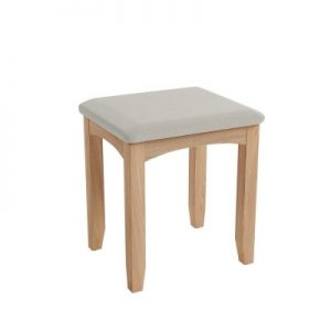 BBS1372  GAO Stool with solid oak frame.