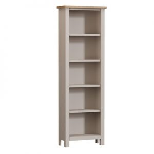 BBS1376  RA Tall Bookcse  in Oak and Dove Grey