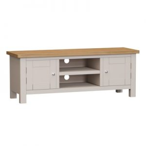 BBS1378  RA Large TV Unit  in Oak and Dove Grey