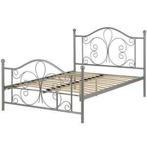 BwBS1475  Annabel 4ft6 bed in Silver.